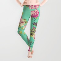 Floral Shabby Chic Leggings by Ilola