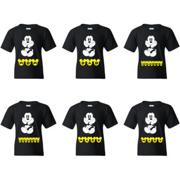 TurnTo Designs - Disney Mickey Mouse  Custom Family T-shirt Sets with  Name