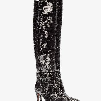 Gainsbourg 85 silver sequin boots