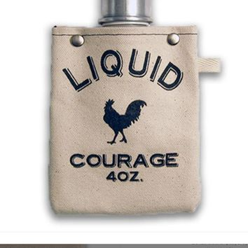 Liquid Courage - Canvas Flask