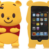 Disney 3D Cute Winnie The Pooh Bear Soft Case Cover for iPod Touch 4 4G 4TH GEN