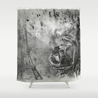 Last Time I Saw Paris Shower Curtain by Theresa Campbell D'August Art