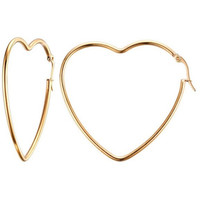 Gia Heart Hoops Earrings