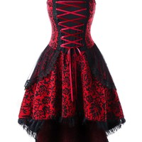 Atomic Plus Size Red Vintage Goth Corset Dress
