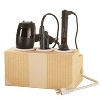 G.U.S. Woven Rattan Countertop Hair Styling Station