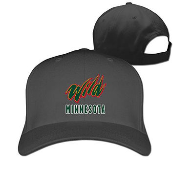 Adult Vintage Minnesota Wild Cotton Mesh Hat Black One Size For Men And Women