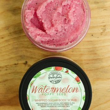 Watermelon Poppy Seed - Whipped Sugar Scrub