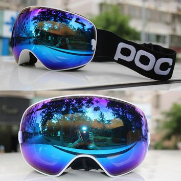 2018 New Professional Ski Goggles Snowboard Men Women Double Layers Anti-fog Skiing Glasses Snow Mask Skate Eyewear Ski Googles