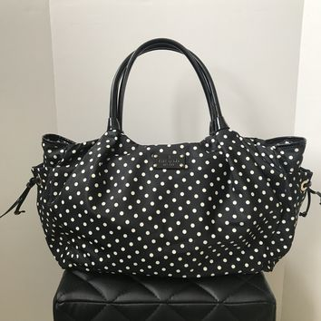 Kate Spade Black/White Polka Dot Nylon Diaper Bag