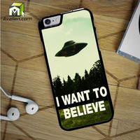 I Want To Believe Ufo Aliens iPhone 6S Case by Avallen