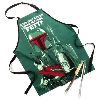 Star Wars™ Boba Fett™ Apron and Tong Set