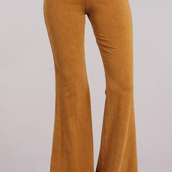 Chatoyant Mineral Wash Bell Bottoms Butterscotch