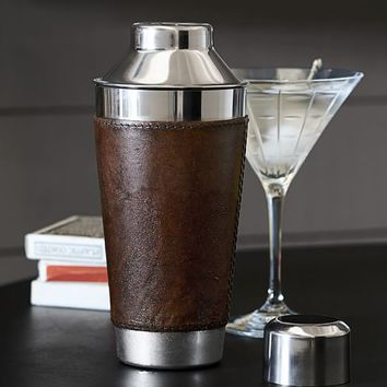 SADDLE LEATHER COCKTAIL SHAKER
