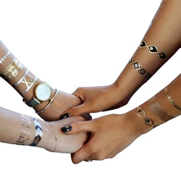 Armbands Collection | Metallic Tattoos Variety Set