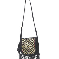 Beaded Fringe Crossbody Bag | Wet Seal