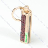 Golden Keyring KeyChain Permanent Match Striker Lighter