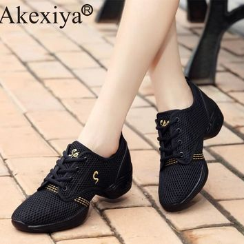 Akexiya Women Sneakers Ladies Breath Fitness Dance Shoes Men's Dance Sneakers Ballet Jazz Dancing Shoes For Children Boys Girls