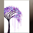 Abstract Canvas Art Painting 18x24 Original Contemporary Modern Landscape Tree Paintings  by Destiny Womack - dWo - The Weeping Willow