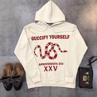 """Gucci """"Guccify Yourself"""" Print Sweatshirt Pullover Hoodie"""