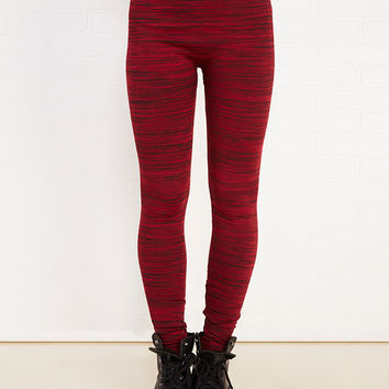 Almost Famous™ Space Dyed Fleece-Lined Leggings | Wet Seal