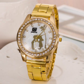 Great Deal Trendy Gift Designer's New Arrival Awesome Good Price High Quality Alloy Stylish Love Casual Watch [6542108931]