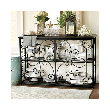 D'Aurey Console - Entry Hall Accent Table - Metal Table