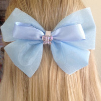 Cinderella 2015 Movie Sheer Blue Butterfly Bow, Have Courage and Be Kind by Design Bowtique
