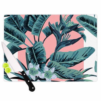 "Kess Original ""Monstera"" Nature Pop Art Cutting Board"