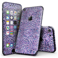 Purple Watercolor Leopard Pattern - 4-Piece Skin Kit for the iPhone 7 or 7 Plus
