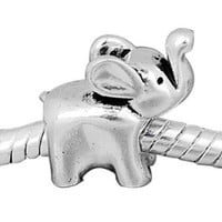 European charm metal bead elephant
