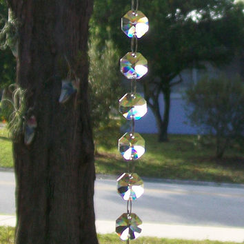 Window Crystal, Suncatcher, Feng Shui Crystal, Rainbow Crystal, Dancing Light Crystals, Crystal Suncatcher, Rearview Mirror Charm