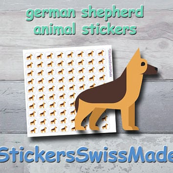 PLANNER STICKER || german shepherd - dog || animal stickers || small colored icon | for your planner or bullet journal