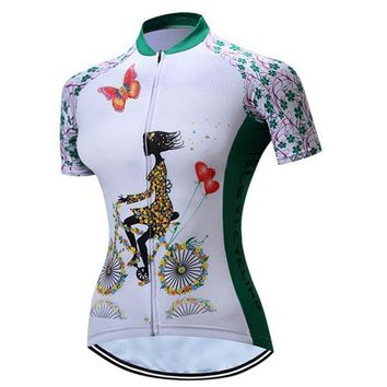 TELEYI Women Summer Racing Cycling Jersey Shirts Bike Bicycle Sportswear Ropa Ciclismo Road Breathable Cycling Clothing 5 Style