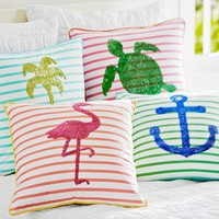 Sea Breeze Stripe Pillow Cover