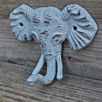 "Gray ""ELEPHANT"" cast iron Wall Hook by AquaXpressions"
