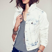 Free People Womens Love Always FP Denim Jacket