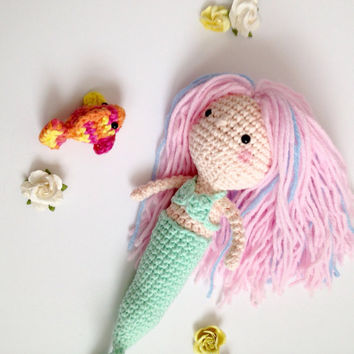 Mermaid Doll Amigurumi Mermaid Toy Amigurumi Doll Crochet Doll Handmade Crochet Crochet Fish Crochet Toy Plush Kawaii Birthday Gift Ideas