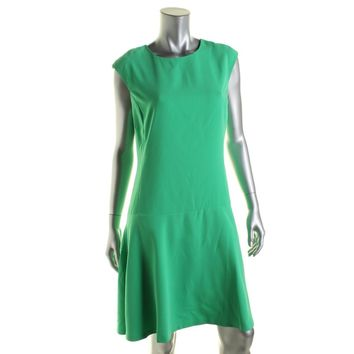 Lauren Ralph Lauren Womens Sleeveless Drop Waist Casual Dress