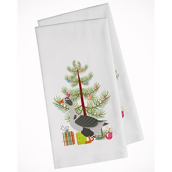 West of England Goose Christmas White Kitchen Towel Set of 2 BB9262WTKT
