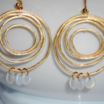 Gold dangle earrings gold dangle hoop earrings gold circle earrings gold earrings jewelry under 20 gold and white earrings women earrings