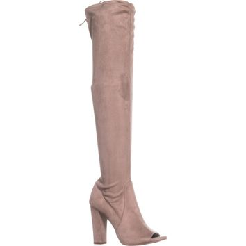 Carlos by Carlos Santana Fitz Peep Toe Over The Knee Boots, Doe, 9 US / 39 EU