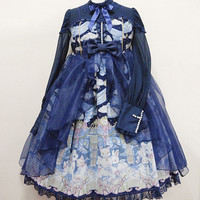Holy Theater One Piece - Navy [162PO03-030051-nv] - $323.00 : Angelic Pretty USA