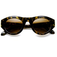 Women's High Fashion Oval Cat Eye Sunglasses 9298