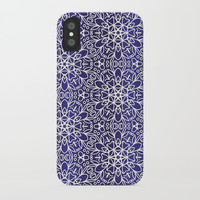 Midnight Flowers iPhone Case by Tanyadraws