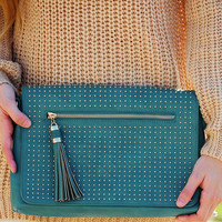 Finders Keepers Clutch: Dusky Teal