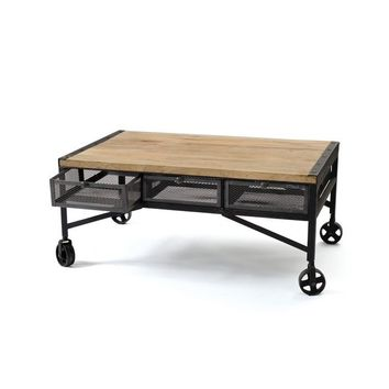 Vintage Industrial Finish Throwback Coffee Table