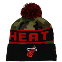 Miami Heat NBA Hardwood Classics Camo Pom Knit