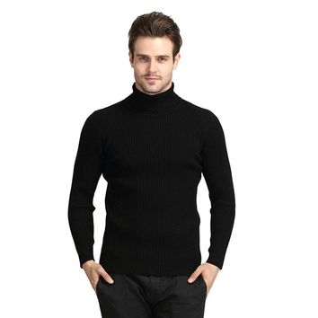 New Fashion Winter Brand Turtleneck Sweater Men Casual Wool Soild Pullover Mens Sweaters Jumpers Pull Homme