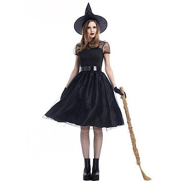 Witch Dress Temperament Witch Night Ghost Game