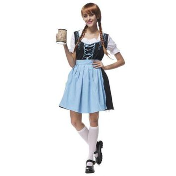 Bavaria Costume Beer Festival Waitress Embroidered Dress